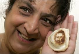 Donna Lee found Jesus in a pierogi and sold it on eBay for $1,775. It makes good toast. marchmatron.comDonna Lee found Jesus in a pierogi and sold it on eBay for $1,775. It makes good toast. marchmatron.com