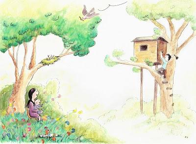 carte de voeux personnalisée illustration jeunesse children newborn