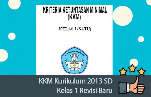 KKM Kurikulum 2013 SD Kelas 1
