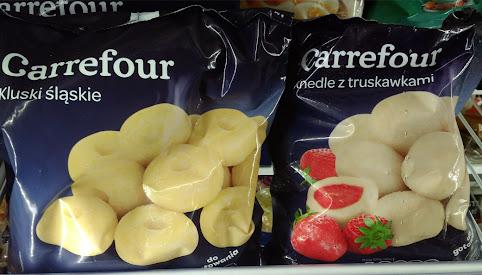 Knedle, kluski, Carrefour
