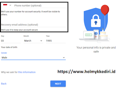 membuat Gmail tanpa verifikasi no HP v