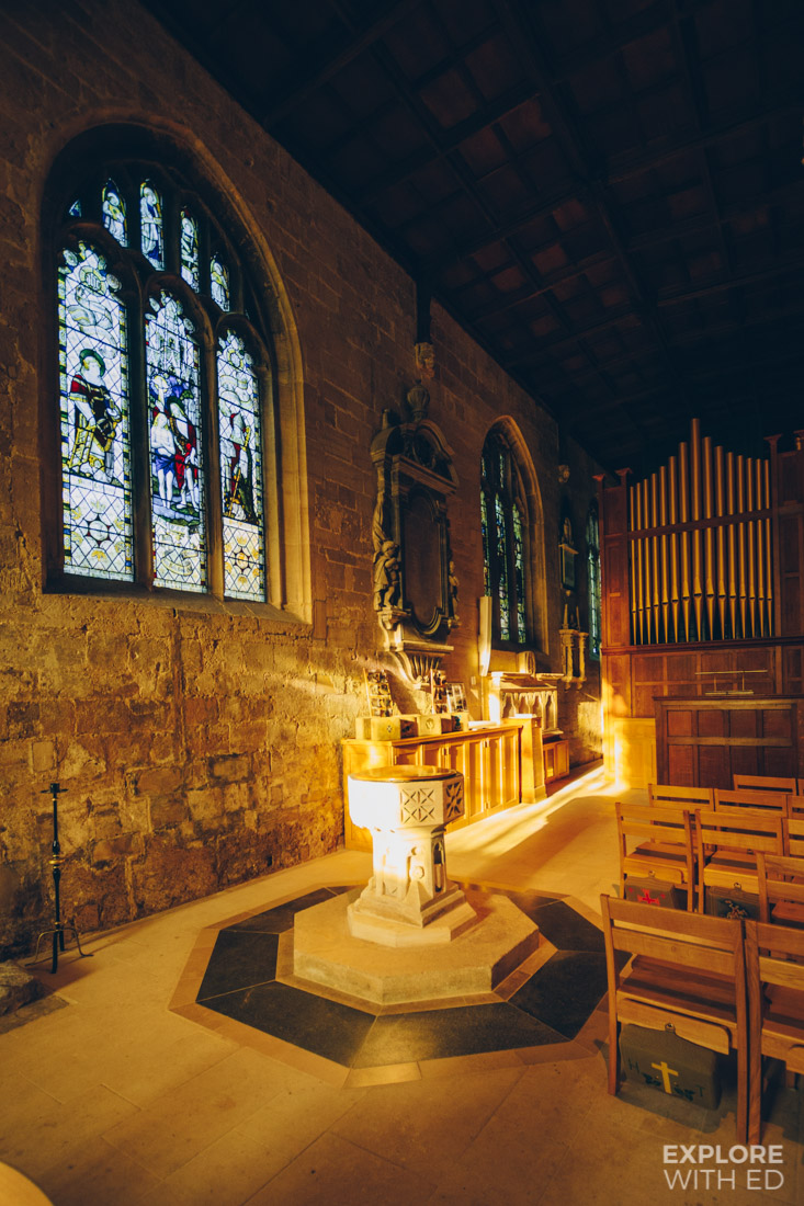 Inside The Holy Trinity Church in Bradford-on-Avon