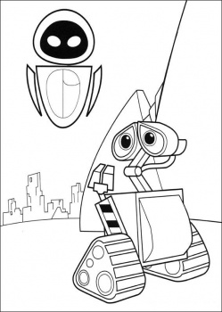 wall e eve coloring pages - photo#8