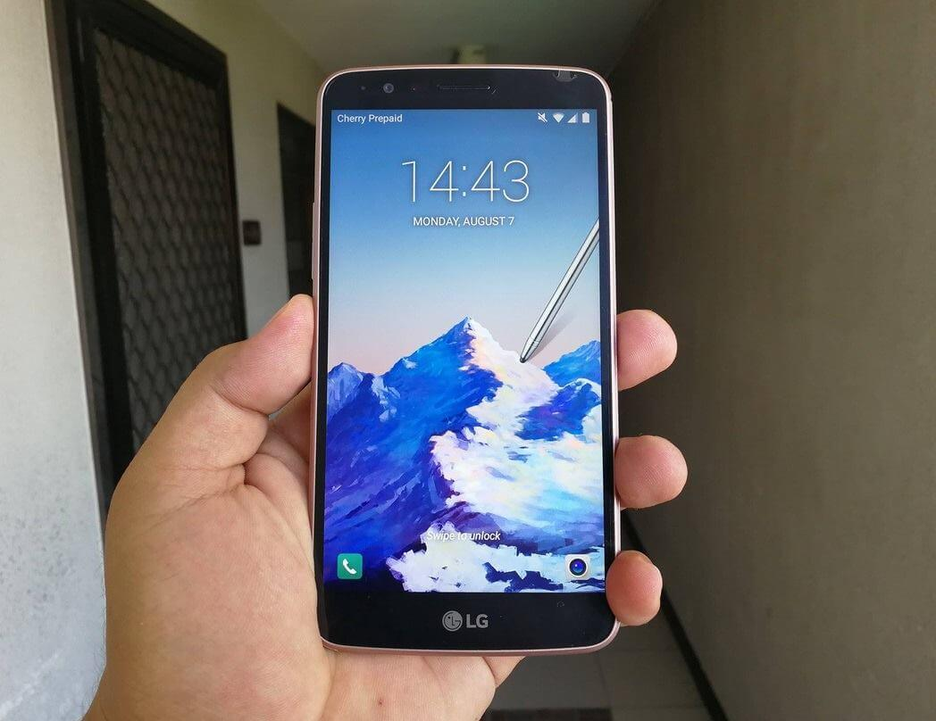 LG Stylus 3 Review - Front