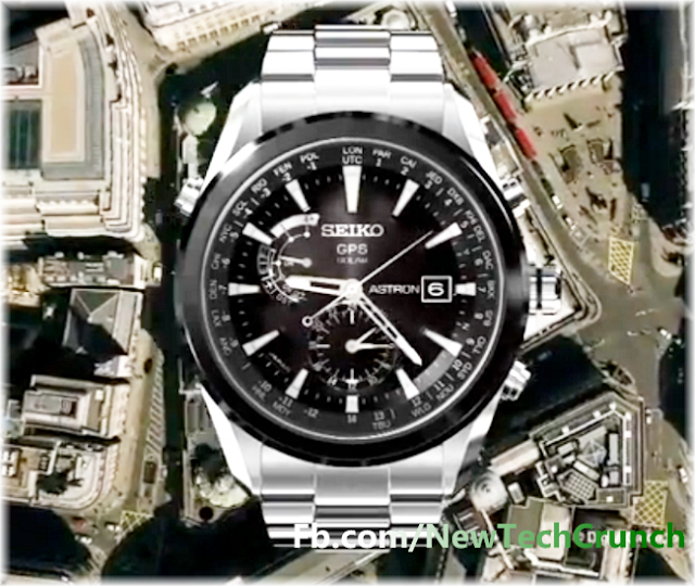 new seiko astron solar wristwatch