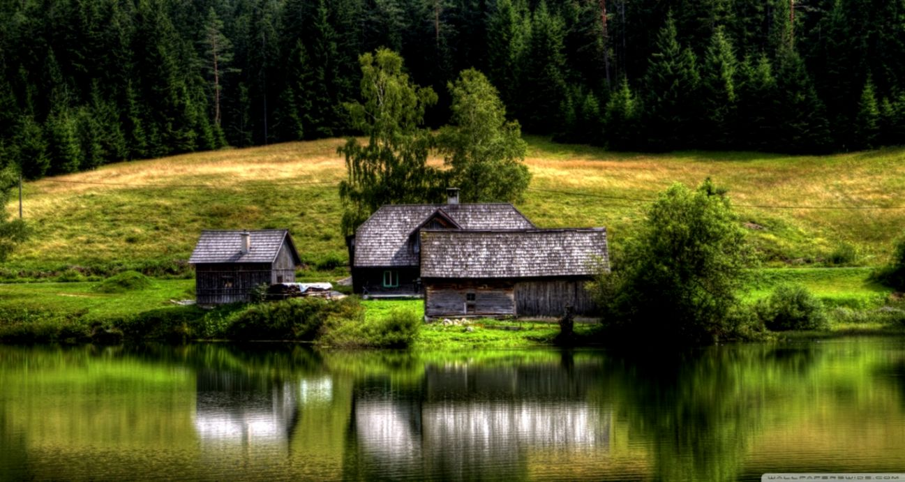 House And Lake Hd Wallpaper Wallpapers Pc