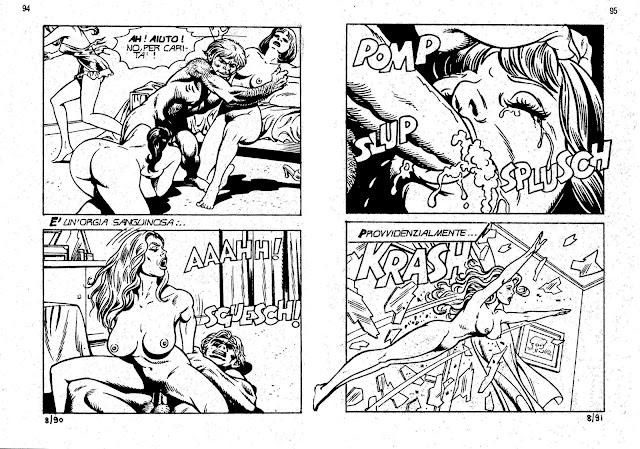 Diverso è il caso della moltitudine di fumetti porno prodotti a mò catena di montaggio, tirati via, senza capo né.