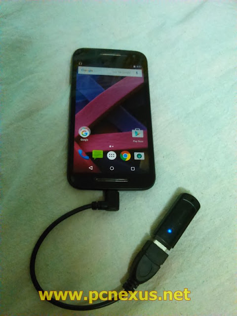 Moto g 2015 OTG cable connection