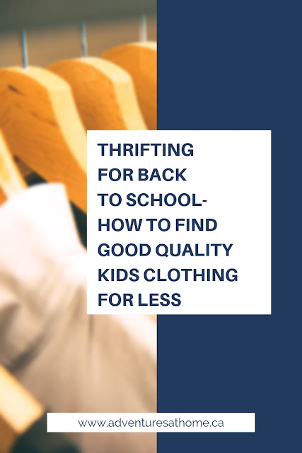 Back To School Series- Thrifting Your Child's Wardrobe!