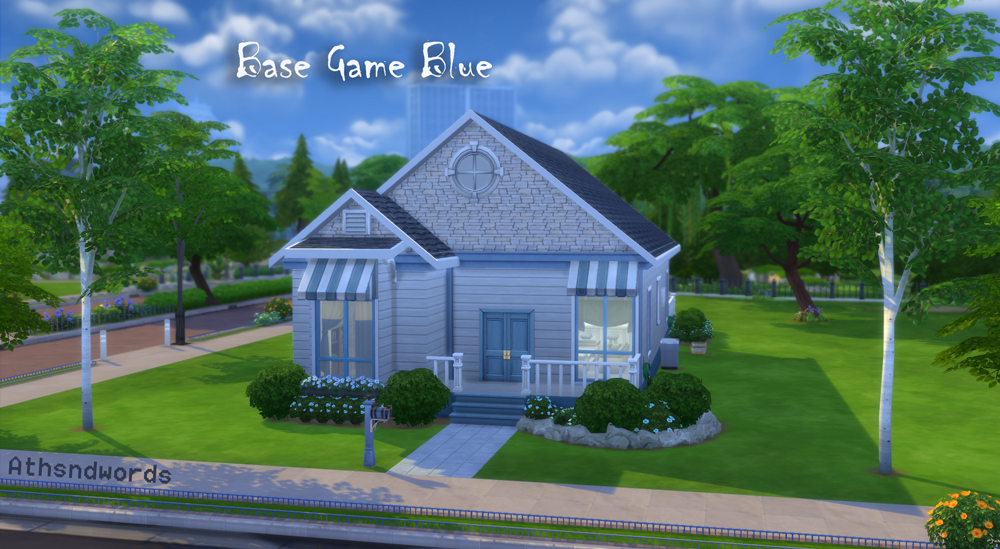 Athsndwords Sims 4 Designs: Base Game Blue