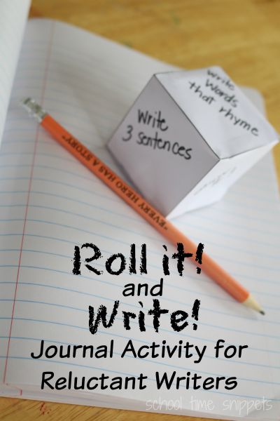 Writing Prompt Dice Game for Reluctant Writers