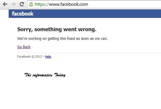 Facebook Down (UPDATED) ~ prova html :)