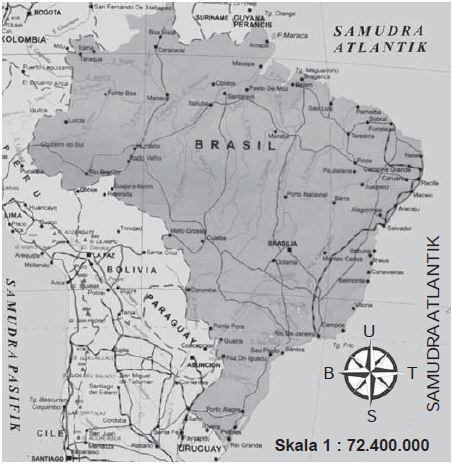 Peta Negara Brasil