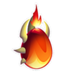 Appearance of Super Flame Dragon when egg