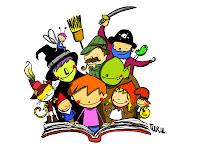 Resultat d'imatges de dibuixos nens llegint