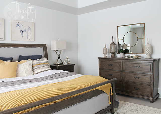Master Bedroom decorating idea and model home tour