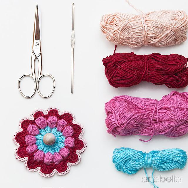 Flower crochet motif 2 by Anabelia Craft Design