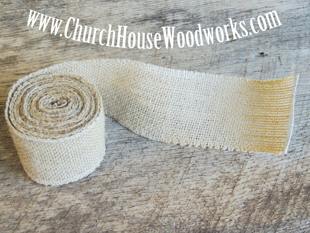 Jute Burlap Ribbon, 3 yards by 2.5 inches wide, Jute Burlap Trim Ribbon- Rustic Wedding decor, Burlap Supplies, Bows.
