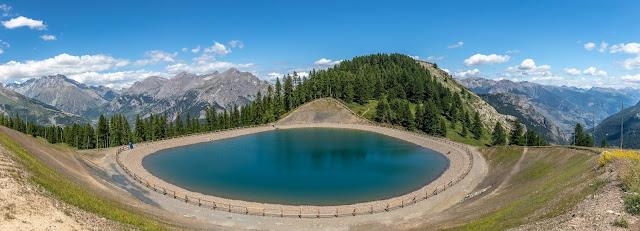 Hautes-Alpes, landscape, Alpes, Alps, French Alps, alpes françaises, lac, lake, montagne, mountains, puy-saint-vincent, massif des écrins, écrins