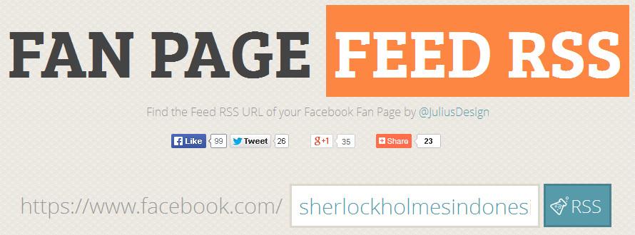 Cara Mengetahui Alamat Feed RSS Facebook Fan Page