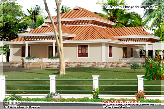 Kerala single storey house
