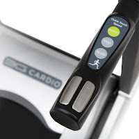 Quick-touch handrail controls on 3G Cardio Lite Runner Treadmill, image