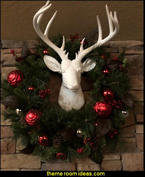 Deer Head Wall Hanging  Christmas decorating ideas - Christmas decor - Christmas decorations - Christmas kitchen decor - santa belly pillows - Santa Suit Duvet covers - Christmas bedding - Christmas pillows - Christmas  bedroom decor  - winter decorating ideas - winter wonderland decorating - Christmas Stockings Holiday decor Santa Claus - decorating for Christmas - 3d Christmas cards