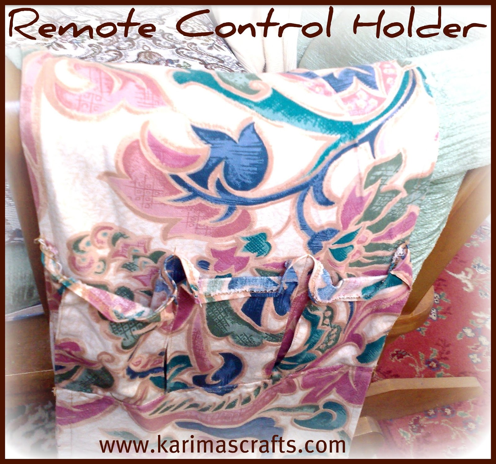 remote control holder for chair pattern honda pilot with captains chairs karima 39s crafts arm covers and