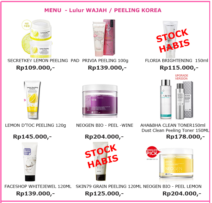 Jual Kosmetik Korea Grosir Original: Lulur Muka / Peeling