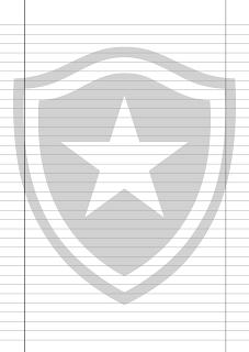 Papel Pautado do Botafogo PDF para imprimir na folha A4