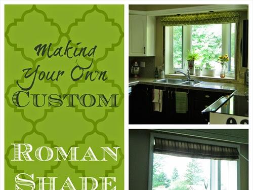 Custom Roman Shade {DIYing it}