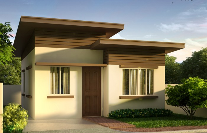 40 small house images designs with free floor plans lay for Affordable house design philippines
