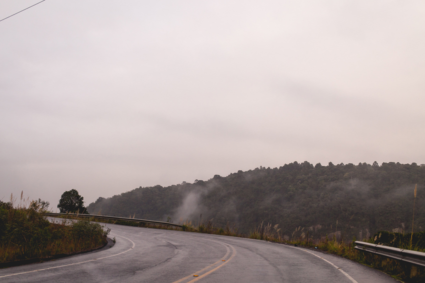 estrada na serra catarinense