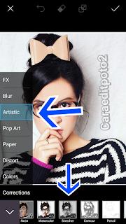 Edit Foto Jadi Gambar Dikertas PicsArt - Android