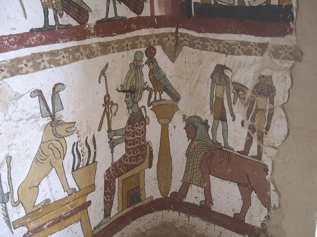 Paintings from the tomb of Petosiris at Muzawaka (XL)