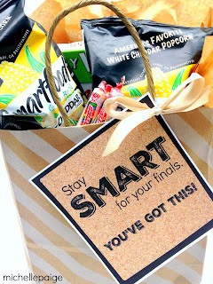 Stay Smart- College Finals Care Package-  Smart foods