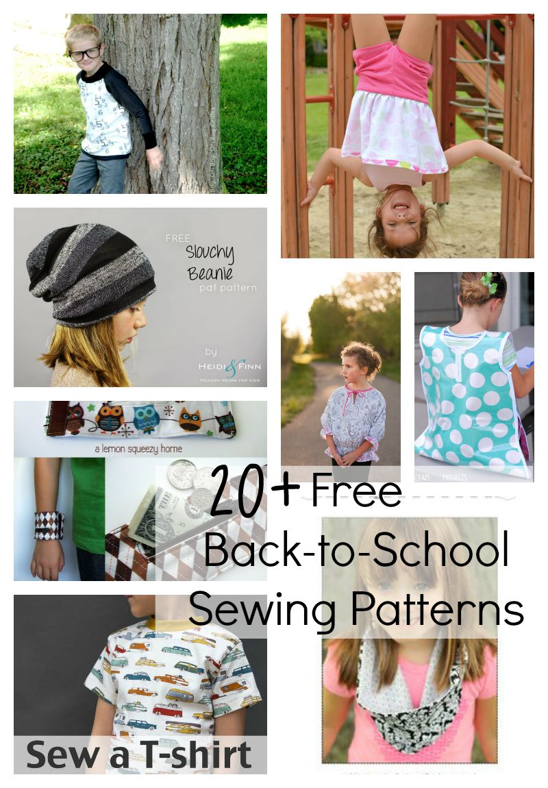 School sewing pattern list free back to school sewing patterns and tutorials round up kids clothing free patterns jeuxipadfo Choice Image