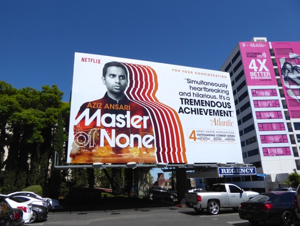 Master of None 2016 Emmy nom billboard
