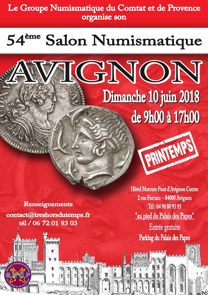 54ème Salon Numismatique d'Avignon Salon_juin_2018