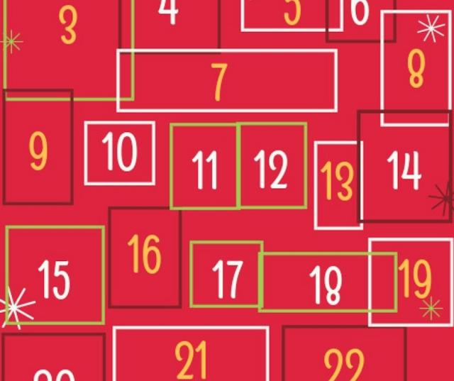 Calendario avvento della felicità di Uptowngirl.it