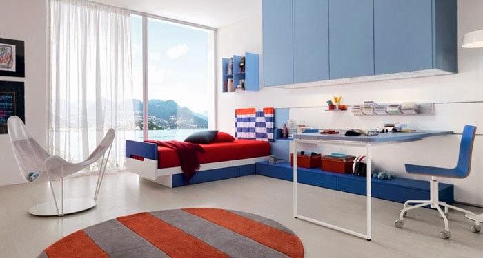 Habitaci n juvenil en celeste y blanco ideas para for Crea cameretta