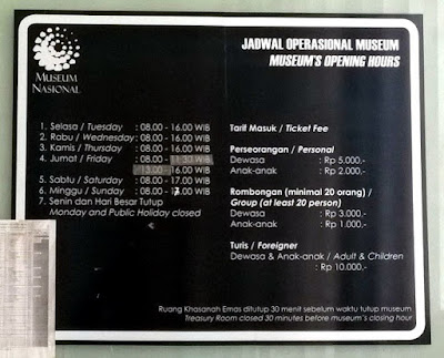 Jadwal dan harga tiket masuk Museum Nasional