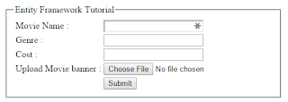 Insert record into Sql server database using Store Procedure and Entity framework in asp.net