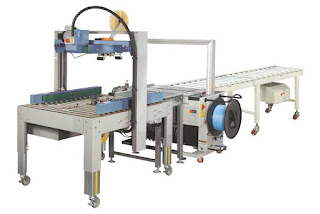Automatic Carton Taping and Strapping Combo Machine