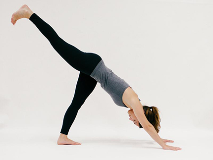 Downward Facing Dog with Leg Lift (YOGA)