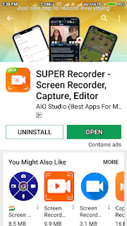 How to use Super Mobile Screen Recoder