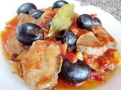 Mâncare de limbă cu măsline