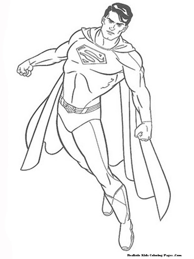 Coloring Page: Man Of Steel Coloring Pages