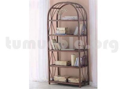mueble estanteria en rattan natural 476