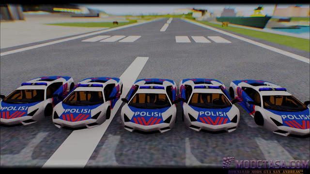 Mod Mobil Polisi Lamborghini Gta Sa Android Dff Only ✓ Lamborghini